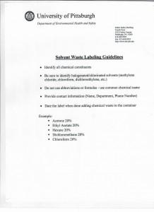 solvent waste memo